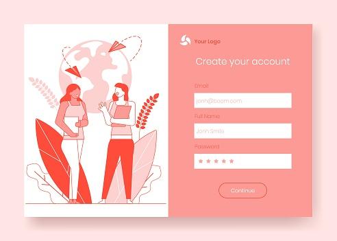 Page registration online form