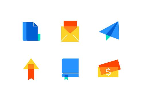 Color flat icon set