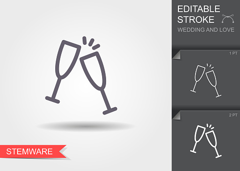 Icon set - Wedding and love