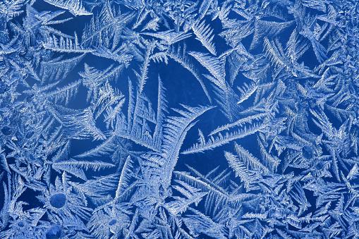 Frosty pattern on a window