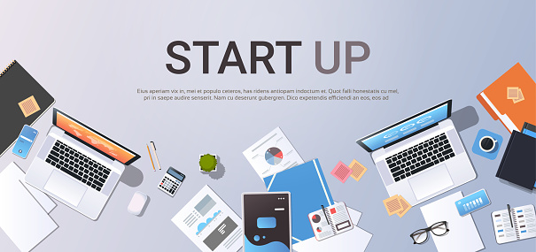 Business strategy concept web banner