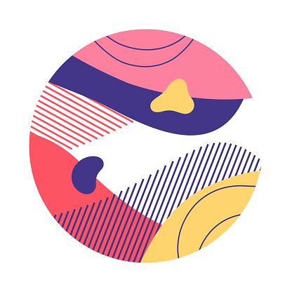 Aquamarine abstract circle