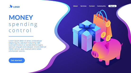Isometric 3D landing page