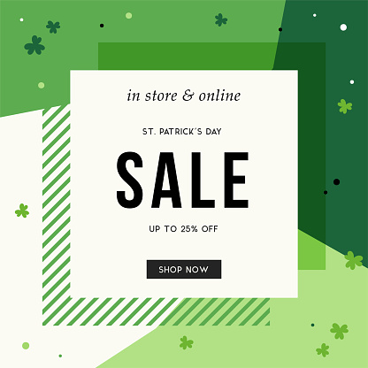 Greenery sale banner
