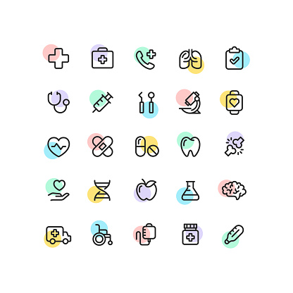 Set of outline icons