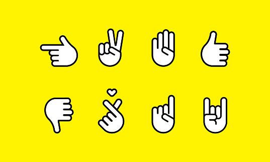 손 관련 아이콘