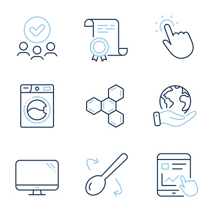 Blue point flat icons