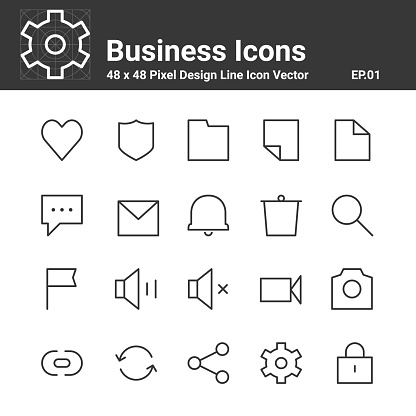 48x48 pixel line icons