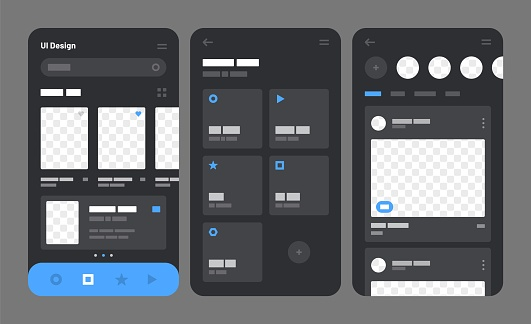 Mobile UI template