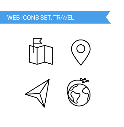 Thin line icons