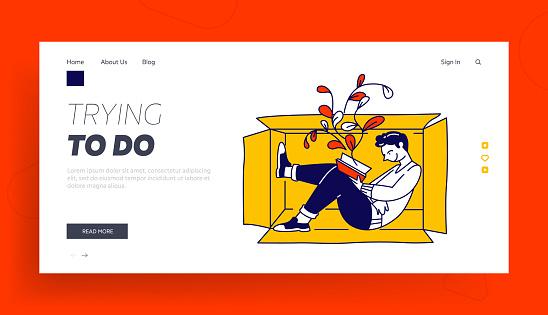 Cartoon Flat Vector Web Page Banner