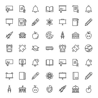 Simple line icons set