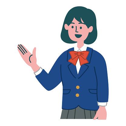Student gesture