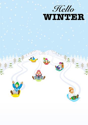 눈 내리는 겨울 풍경
