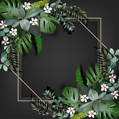 Realistic tropical leaves