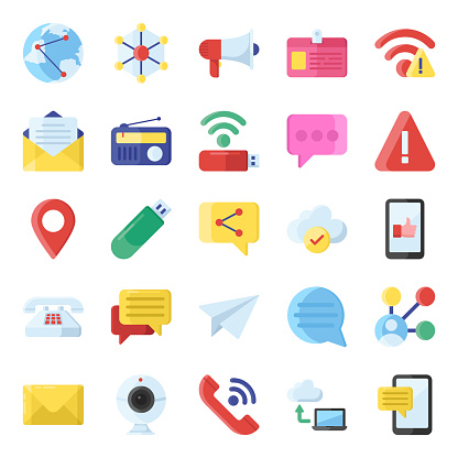 Flat editable icons pack