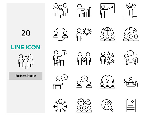 set of people icons, teamwork, team, work, job