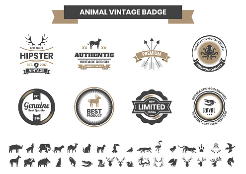 Animal Vintage Vector for banner
