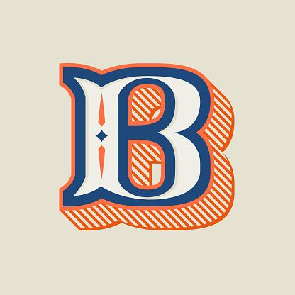 Letter logo in vintage western style