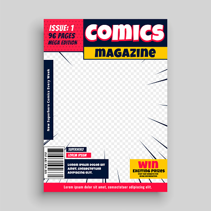 Comic magazine template