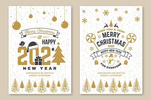 크리스마스&새해 포스터