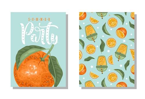 오렌지 엽서 세트