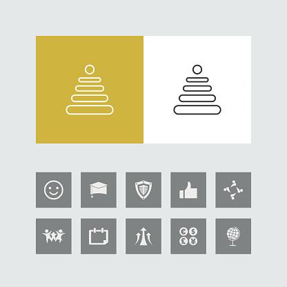Line Icon with Bonus Icons