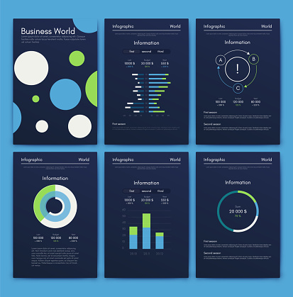 Modern infographic elements