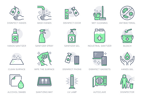 Green color icons