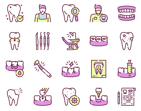 linear vector icons set
