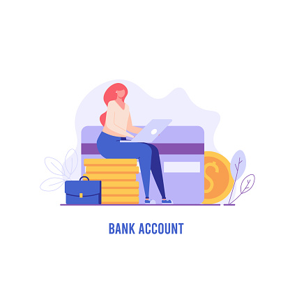 Concept of bank illustration
