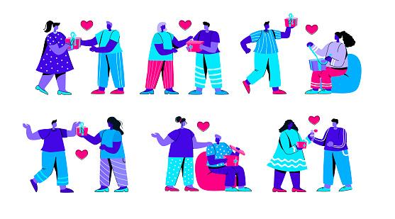 Set of people illustration