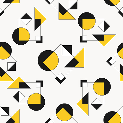 Geometric patterns with shapes