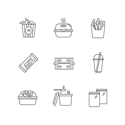 포장음식 아이콘