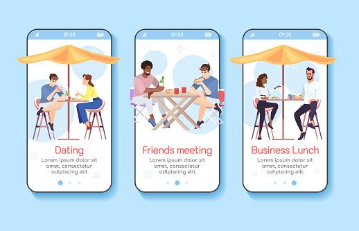 mobile app screen vector template