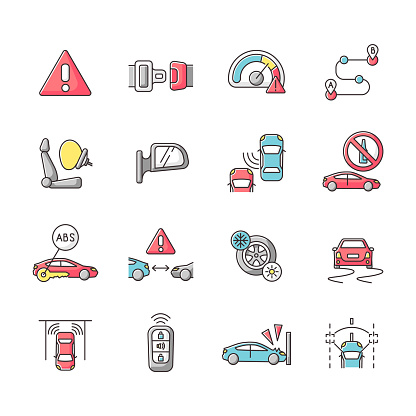 안전 운전 아이콘