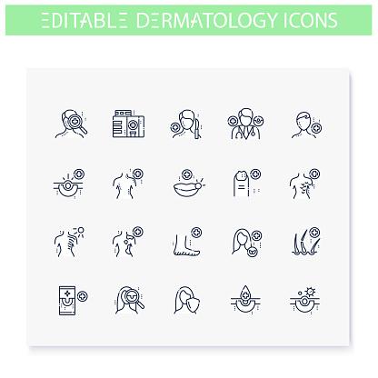 피부 의학 아이콘