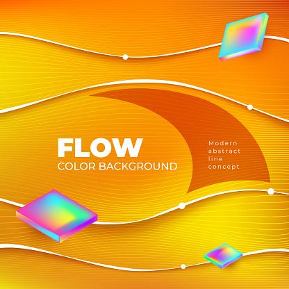 Flow color background