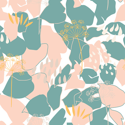 Vector organic floral background