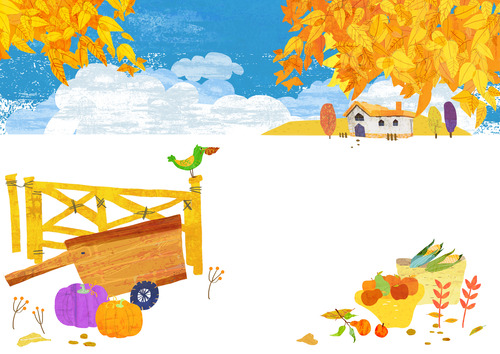가을, 유화 일러스트