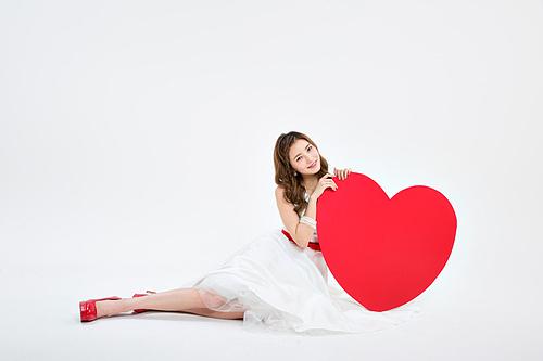 하얀 드레스의 그녀
