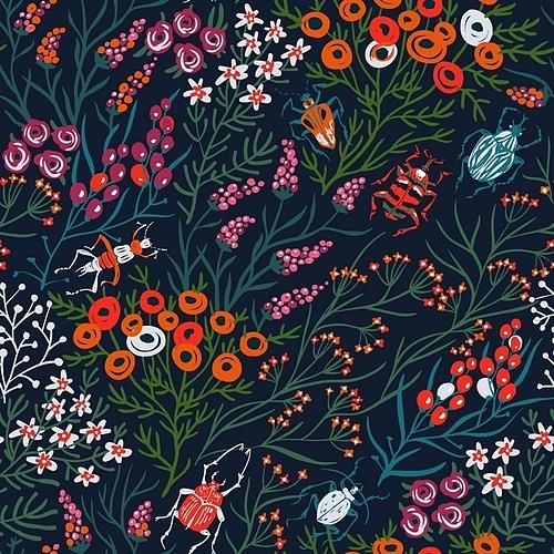 봄 꽃 패턴
