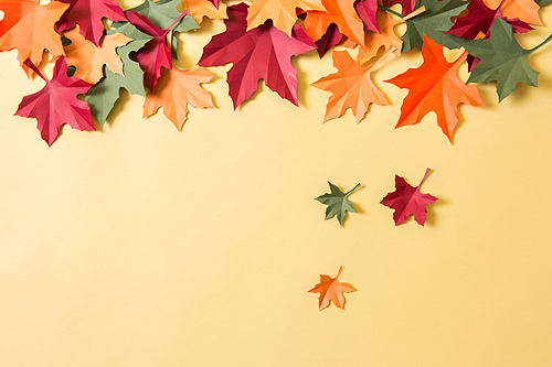 Autumn made of paper