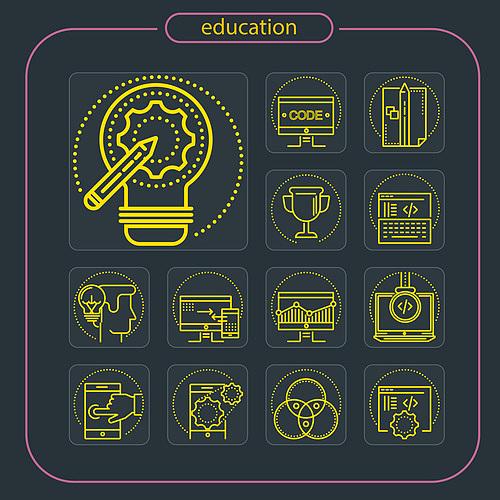 교육 모바일 아이콘