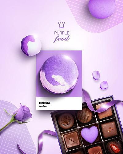 purple food banner