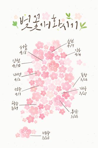 2018 봄꽃 개화시기
