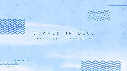 여름 수채화 PPT