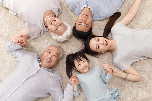 가족 탑앵글
