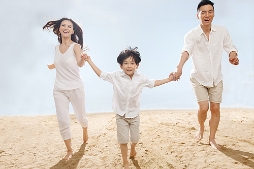 해변 가족여행