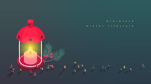 미니어처 겨울라이프